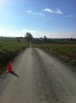 Love this strech - dirt road!